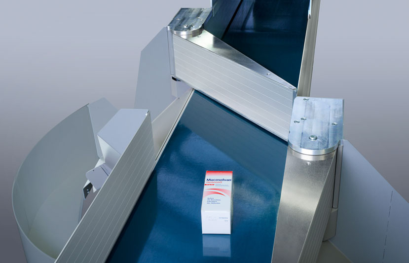 BD Rowa conveyor technology for fast and safe transport of medicines.